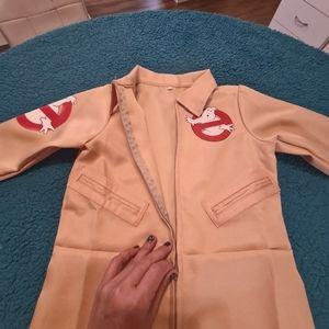 6-8 Year Old Kids Ghostbuster M Beige Jumpsuit Costume   Kid Ghostbuster Cosplay